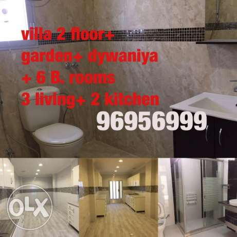 villa for rent in faiha 2 floor with garden and dywaniya