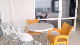 Sea view 2 bedroom semi furnished duplex KD 700 with balcony