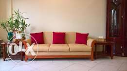 URGENT SALE: Beige faux leather Sofa 7 seat