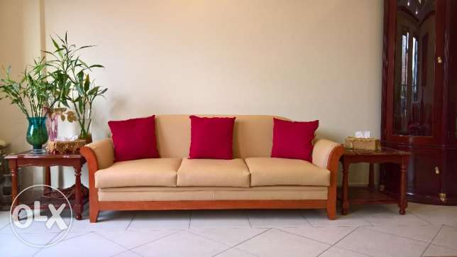 7 seat faux leather Sofa