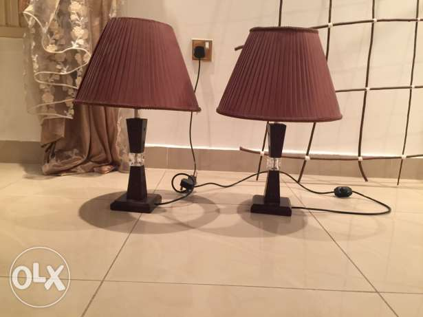 2 Brown bed lamps for 5KD