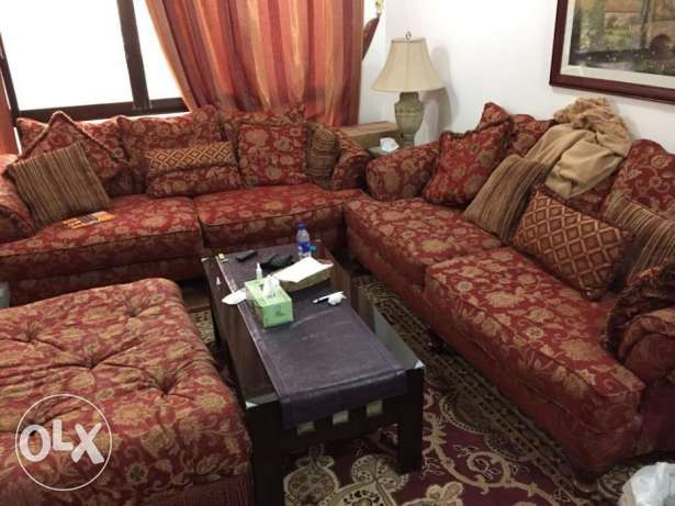 Expat leaving country.. 8 seats couches & Fridge for sale