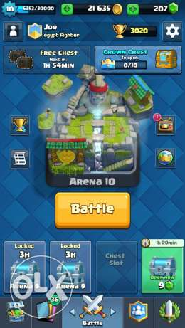 clash royale acc lvl 10 all rare common epic are available