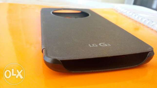 LG G3 Orginal Flip Cover, With clock circle