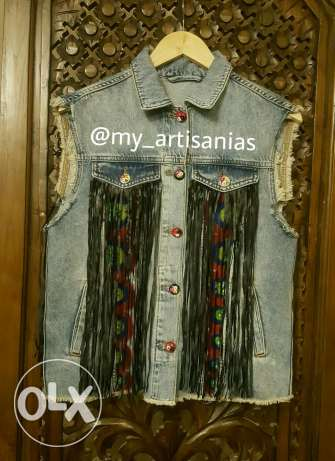 Customize fringe vest