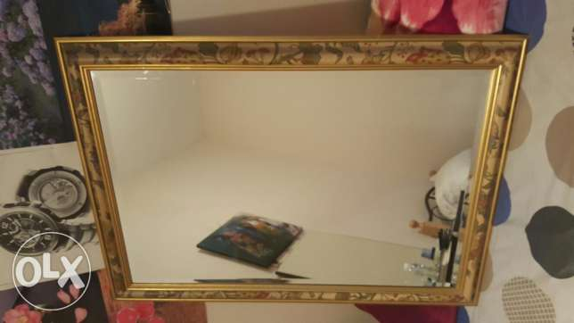 Large & small beautiful mirror for sell can use bed room or hall room.
