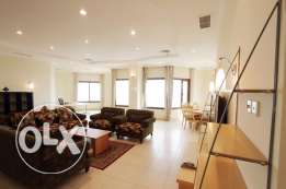 Sea view full floor 3 bedroom semi furnished apartment , KD 800