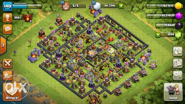 حساب كلاش او كلانس للبيع CLASH OF CLANS TH11 COCS