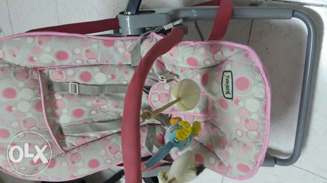 Juniors stroller and baby bassinet for sale ابرق خيطان -  7