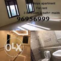 Qadisiya for rent apartment 3 bedrooms 4 / 4.5 - 5 and 3 bath +maids
