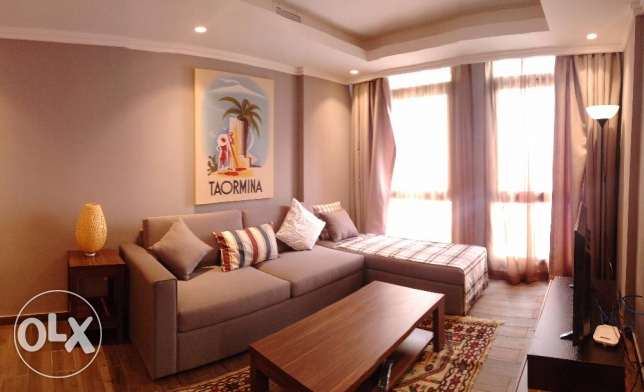 Modern furnished one bedroom apartment for rent close to Kuwait City