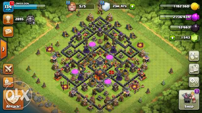 قريه كلاش اوف كلانس / Clash Of Clans Village