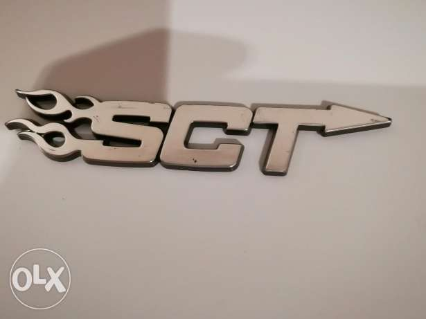 Sct logo chromium sticker