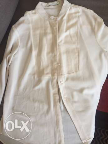 Off White Blouse with buttons