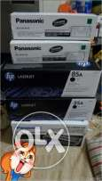 New boxes of Hi laserjet 85A. 35A and Panasonic Genuine toner cartridg