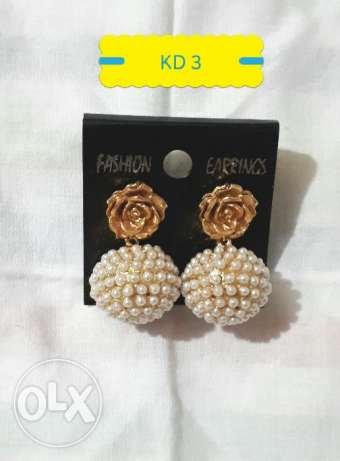 High Quality Gold Plated Pearl Earrings for Sale!