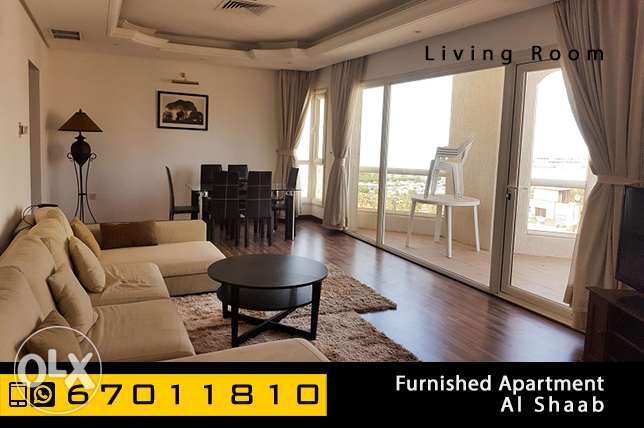 furnished 2 bedroom apartment in Shaab Al Bahri