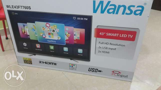 Wansa 43inch full hd led smart tv for sale brand new sealed pack
