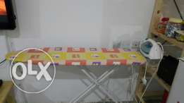 Ironing board with philips iron for sale