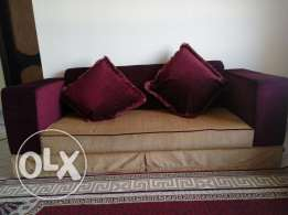 Sofa with center table .. throw away price