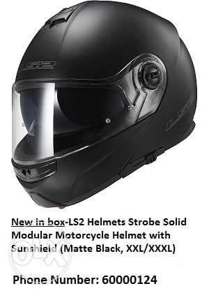 New-LS2 Helmet Strobe solid Matte black