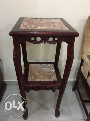 Rose Wood Granite Top side stand For Sale