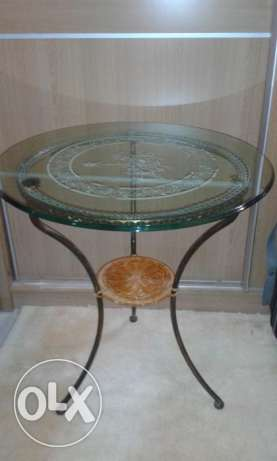 Classy glass and iron table
