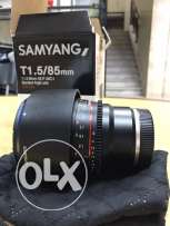 Samyang SYCV85M-C 85mm T1.5 Cine Lens for VDSLR