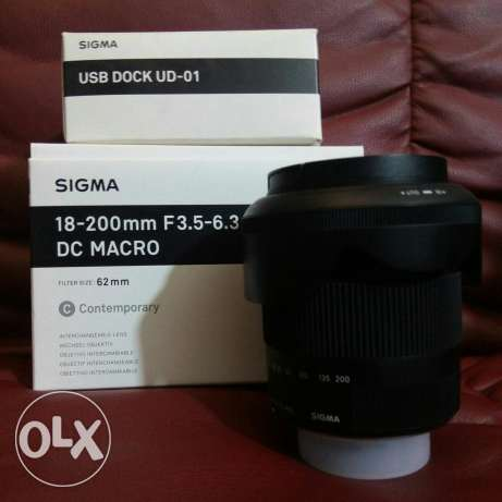 sigma18-200 for nikon with usb dock