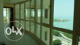 Elegant sea view three bedroom flat with private lobby area KD1100