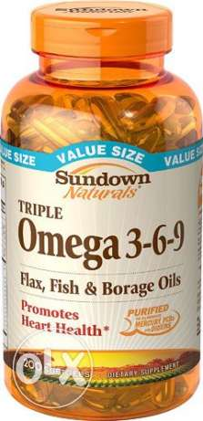 Sundown Naturals Triple Omega 3-6-9 - 200 Softgels
