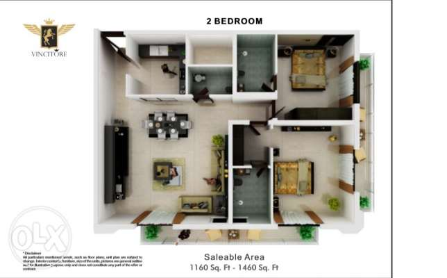 2bedroom for best investment 8% returns 3 years الشرق -  8