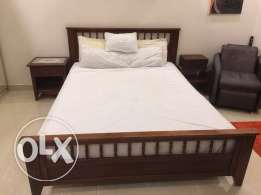 Home Center Queen Sized Double Bed with mattress with free mattress pr