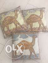 Cushions set of 3 with Camel Print