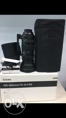 sigma lens sport 150-600 mm F5-6.3 DG for nikon