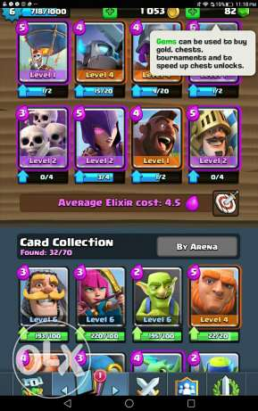 Clash royale account for sale 12 kd.