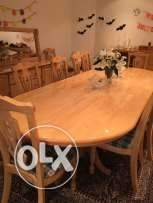 SOLID WOOD dining table with cabinet for Sale