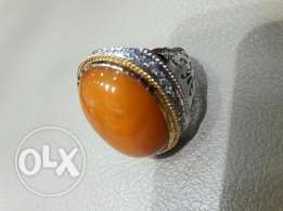 Amber ring for sale