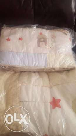 Adjustable Cot, with Mattress, quilt & side protection- excellent cond