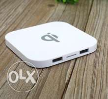 QI Wireless Charging Pad with 2 USB Port HUB Charger