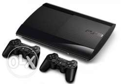 sony ps3 with 2 controllers and 12 free games