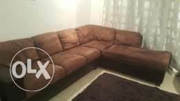 L shape sofa seatكنبه حرف ل