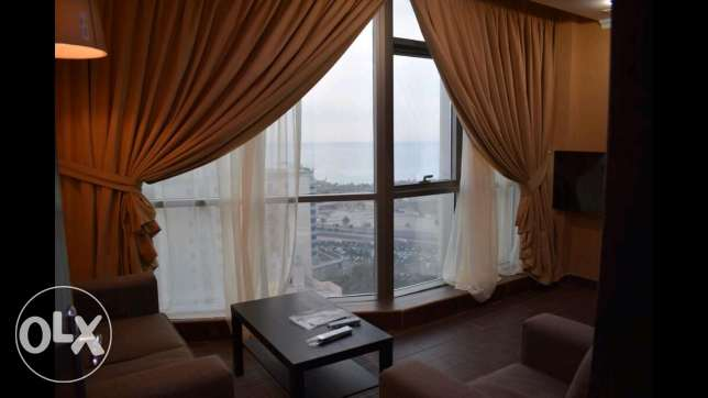 Salmiya new fully furnished flat 1 master bed pool and garden