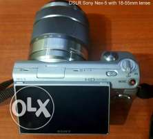 Sony Nex-5 DSLR Camera with additional lenses