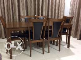Dining Table with 6 Chairs for immediate sale