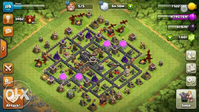Th9 MAX Clash OF clans