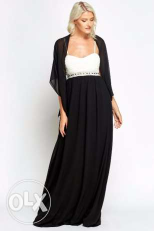 Encrusted Evening Long Gown Dress