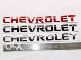 Chrome Chevrolet Nameplate Emblem Badge Alloy Glossy for Silverado