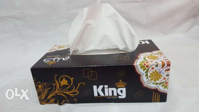 King Tissue Box For sale (250 Box)