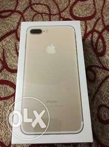 new iphone 7 plus 128 gb (gold color)